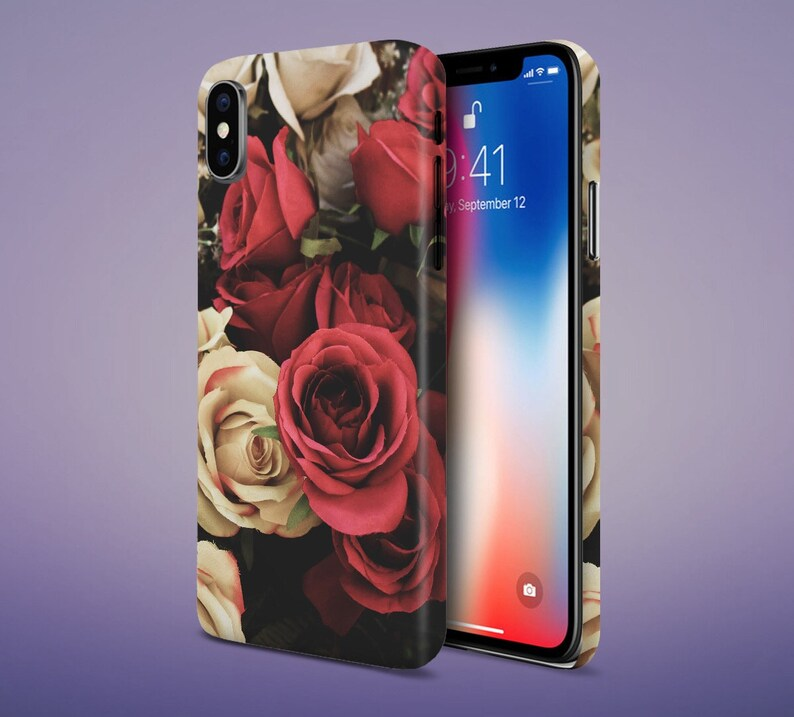 Red x White Roses phone case for apple iphone samsung galaxy image 0