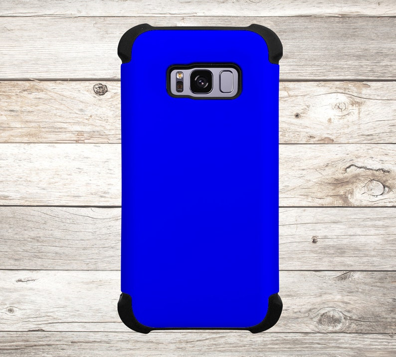 Solid Color Blue Phone Case for apple iphone samsung galaxy image 0