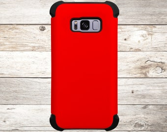 Solid Color Red Phone Case for apple iphone, samsung galaxy, and google pixel