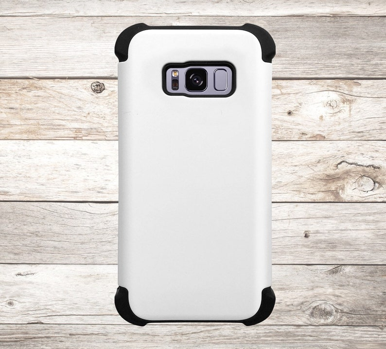 Solid Color White Phone Case for apple iphone samsung galaxy image 0