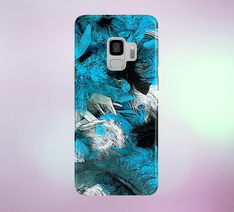 Enriched Turquoise Feathers Phone Case for apple iphone image 0
