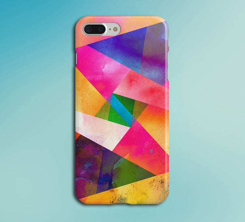 Geometric Bright Color Graphic Phone Case for iPhone Galaxy image 0