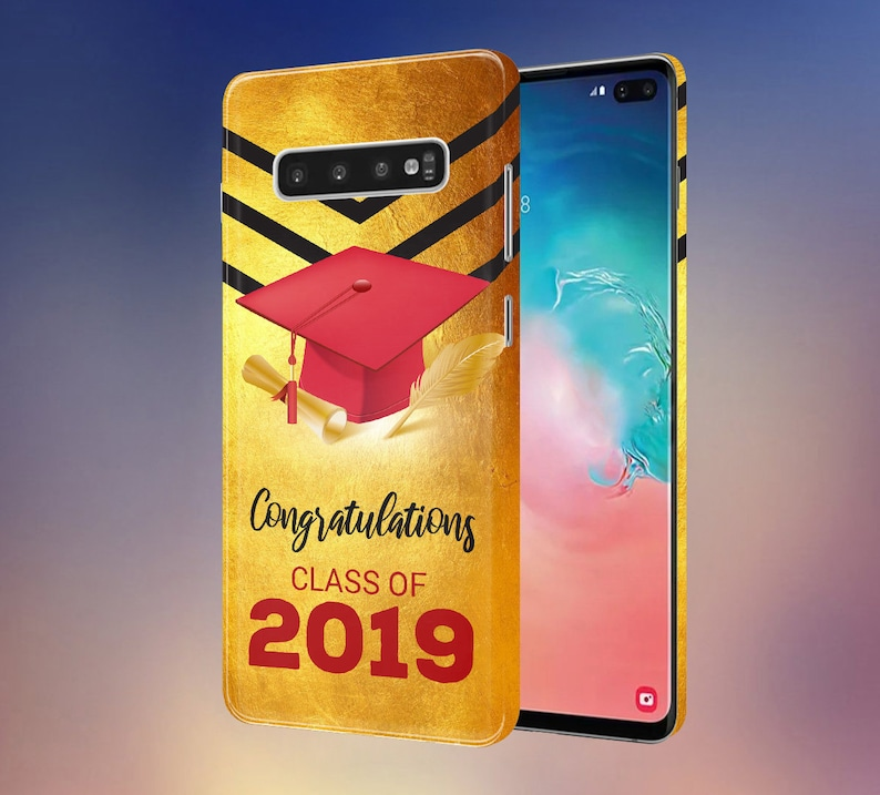 Congratulations Class of 2019 x Gold x Black Chevron phone image 0