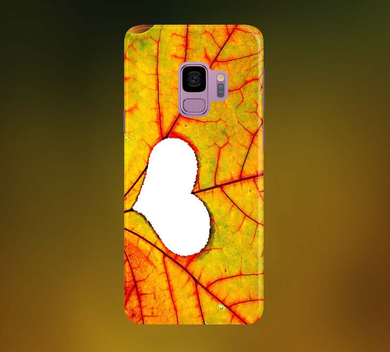 Autumn Leaf Love Phone Case for apple iphone samsung galaxy image 0