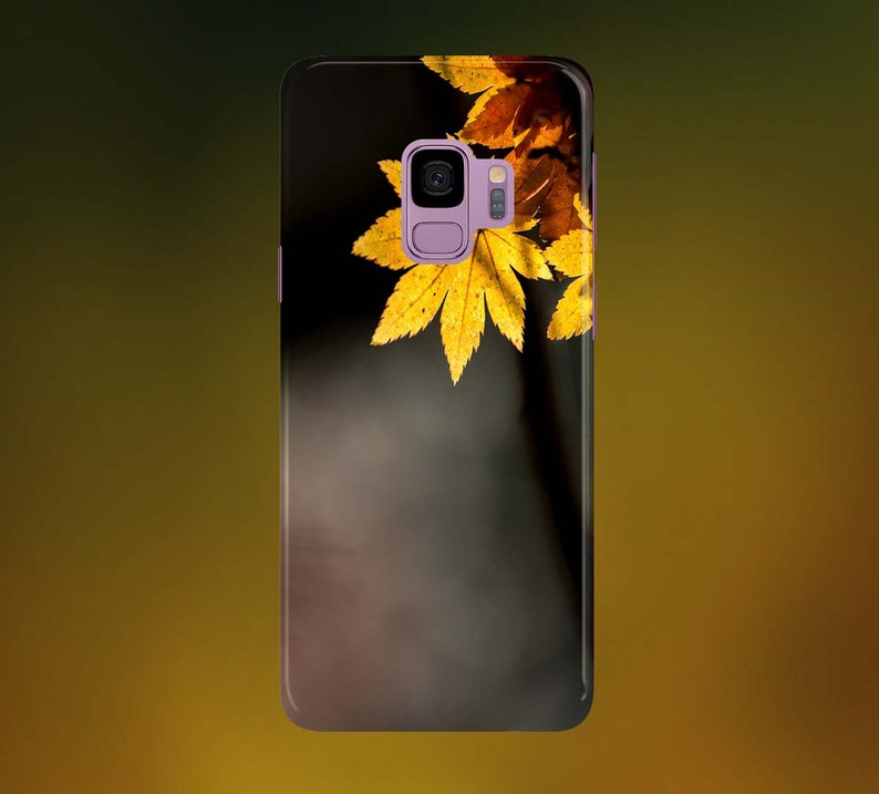 Golden Yellow Leaves Phone Case for apple iphone samsung image 0