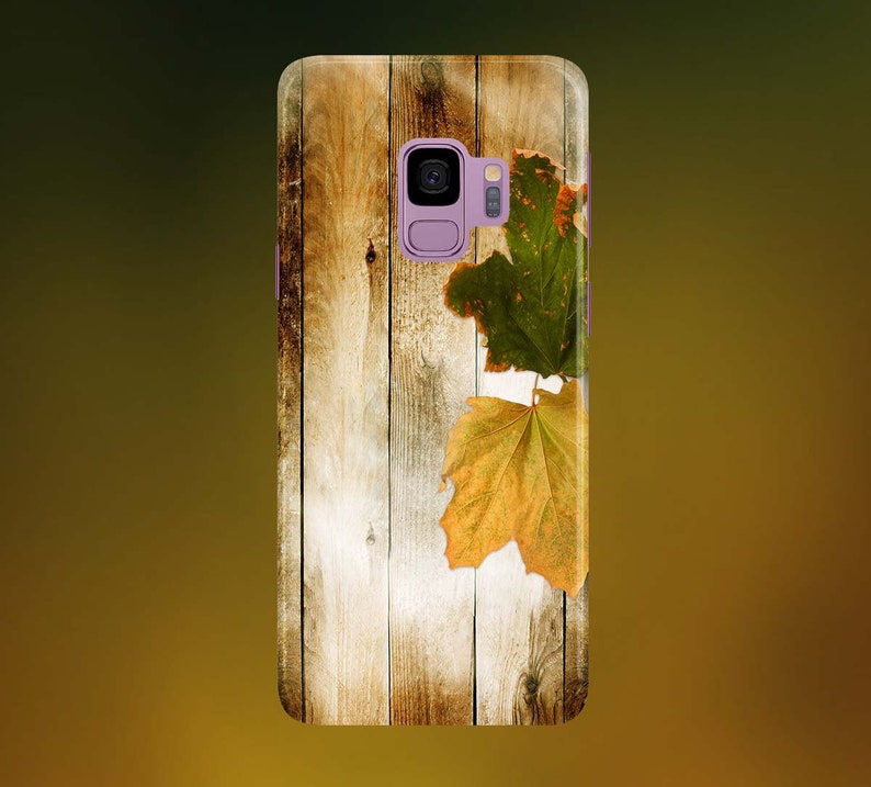 Gold Green Autumn Leaves Phone Case for apple iphone samsung image 0