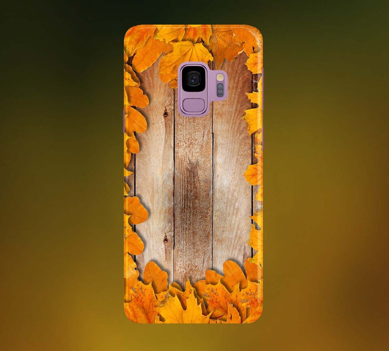 Bright Golden Brown Leaves Phone Case for apple iphone image 0