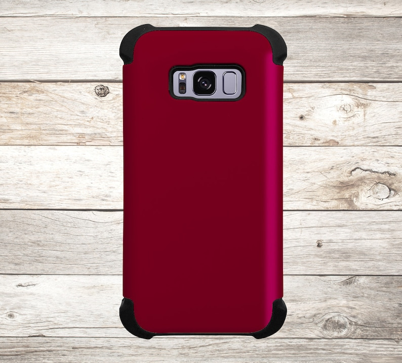 Solid Color Burgundy Phone Case for apple iphone samsung image 0