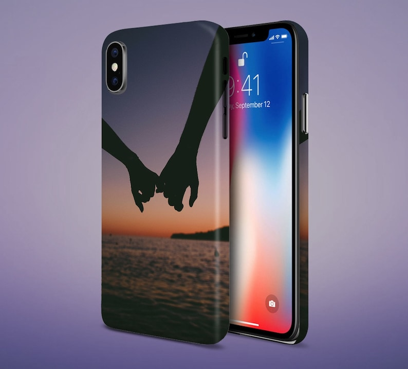 Holding Hands x Sunset on the Beach phone case for apple image 0