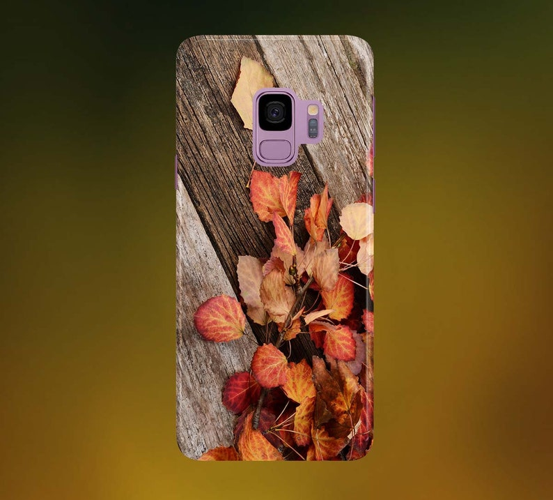 Brown Leaves on Dry Wood Phone Case for apple iphone samsung image 0