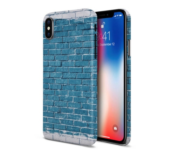 Blue x Grey Spray Paint Brick phone case for apple iphone, samsung galaxy,  and google pixel
