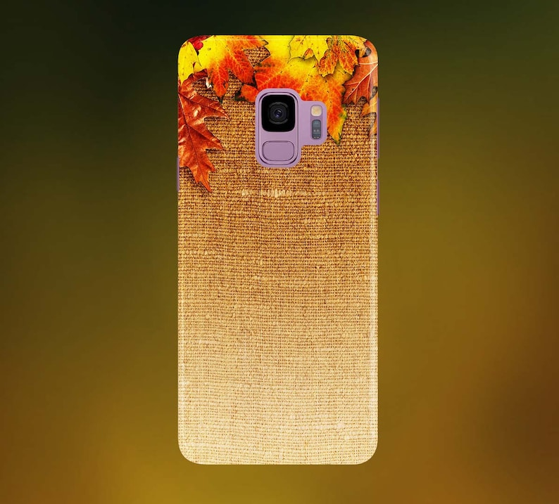 Foliage Over Old Hessian Fabric Phone Case for apple iphone image 0
