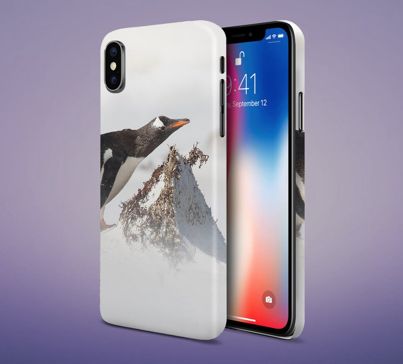 Winter Arctic Penguin Phone Case for Apple iPhone Samsung image 0