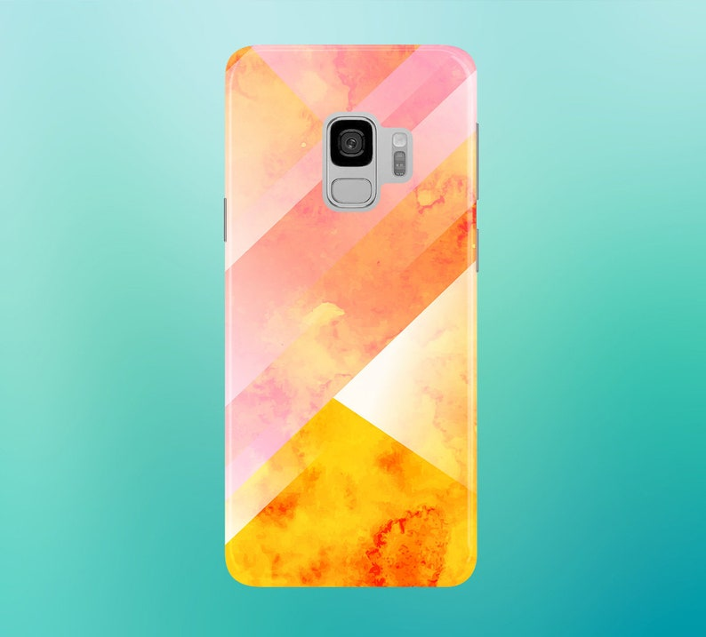 Geometric Autumn Burn Phone Case for apple iphone samsung image 0
