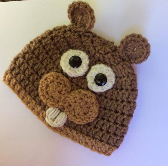 Baby Eichhörnchen Wald Critter Mütze Stil Häkeln Foto Prop Etsy