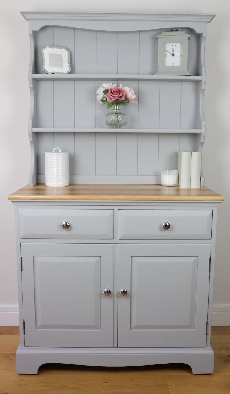 buy online 12c5b eb4b3 SOLD - Light Grey Vintage Welsh Dresser - Country - Farmhouse - Hand  Painted - Urbane Grey