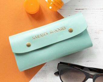 e990e924d748 Personalised Leather Sunglasses Case