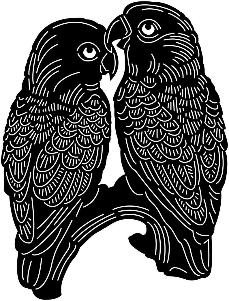Love Birds-DXF files cut ready for cnc machines laser cutting and plasma cutting
