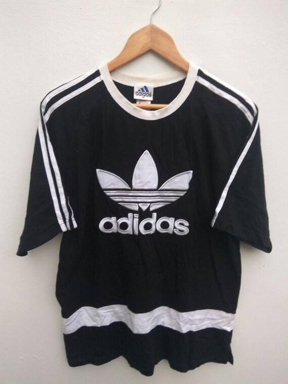Vintage 90s ADIDAS Equipment ADIDAS Trefoil Adidas Big Logo Black Color Medium Size