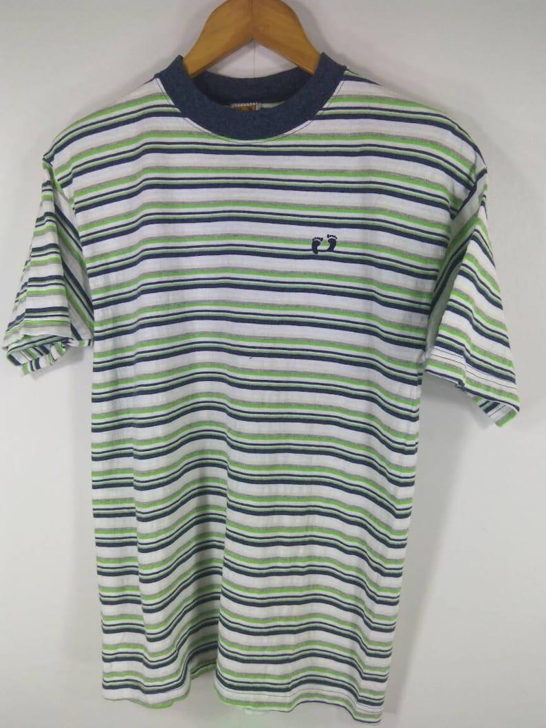 ec3b225248 Vintage Hawaii Hang Ten Striped Rockabilly Shirt Surfing Med