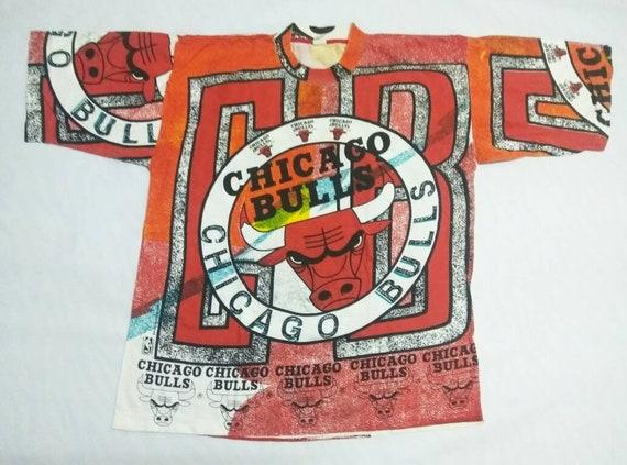 Vintage Chicago Bulls NBA Bulls Print All Over T S