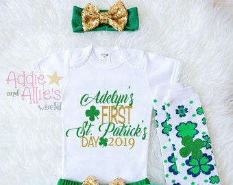 Baby Girl First St. Patrick s Day Outfit My 1st St  cbcc393e02cd