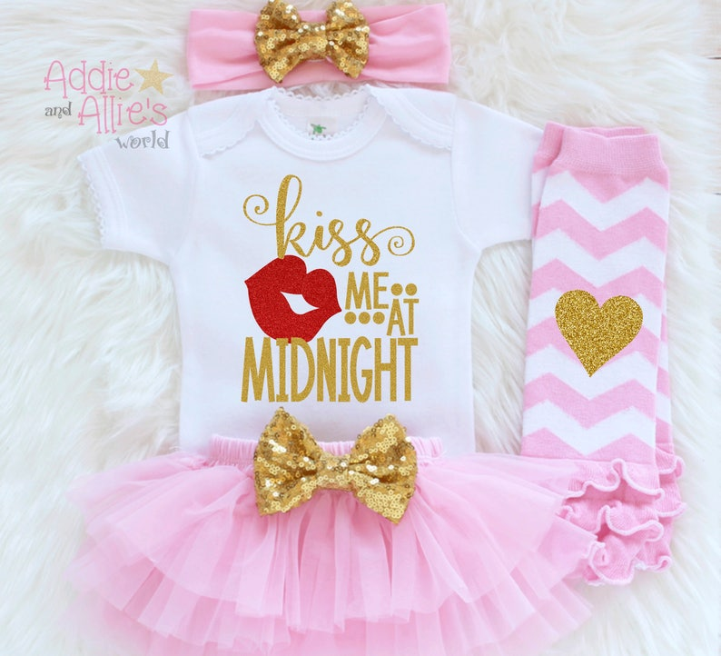 b0c7bed79b0c Girls First New Year Outfit Baby Girl 2018 Shirt 2018 Baby