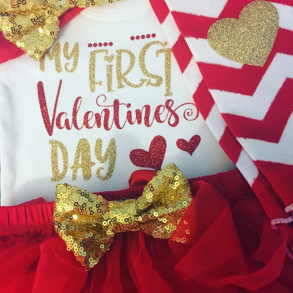 US Seller Red Gold Glittered Hearts//Ribbons Tights 12-24M 2T-3T 4T-5T