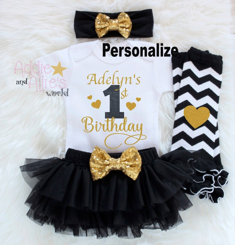 febd009c Personalized First Birthday Outfit Custom Baby Girl 1st | Etsy