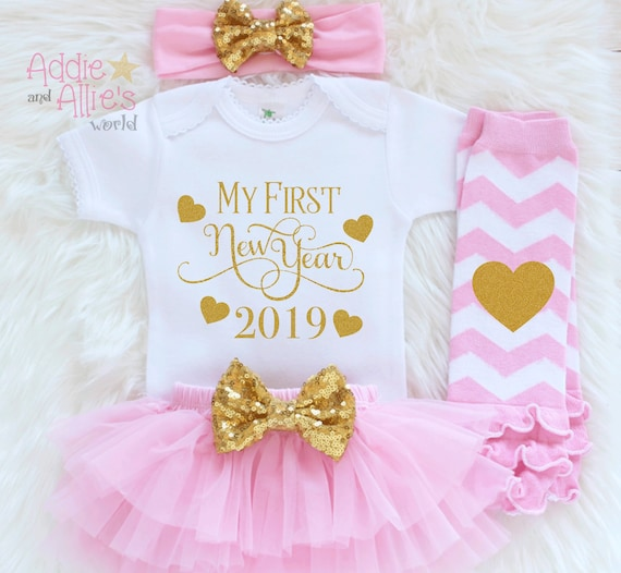 715aae183ed2 My First New Years 2019 Outfit Girls New Year Outfit 1st New | Etsy