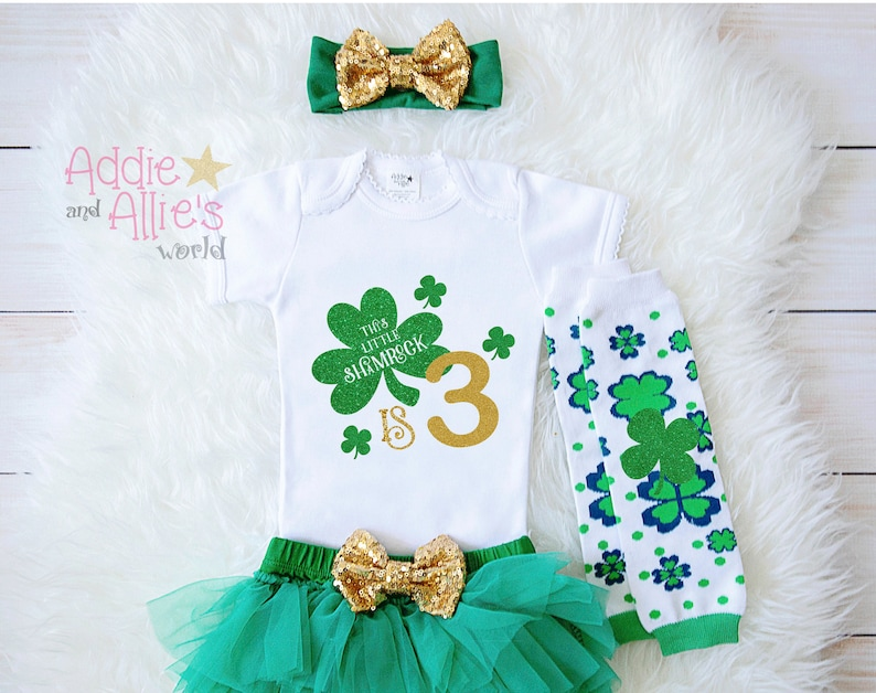 My 3rd Birthday Outfit St Patrick s Day Outfit Baby Girl  4945cf453053