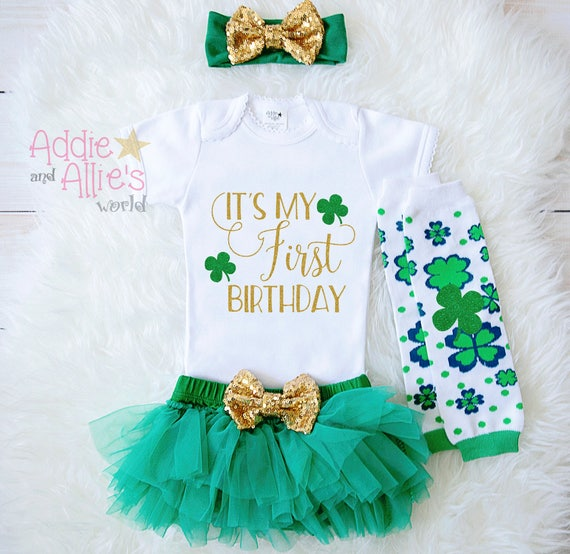 Its My 1st Birthday Outfit St Patricks Day