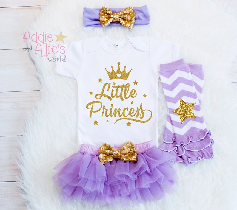 80259b4ee Lavender and Gold Little Princess Newborn Girl Take Home | Etsy