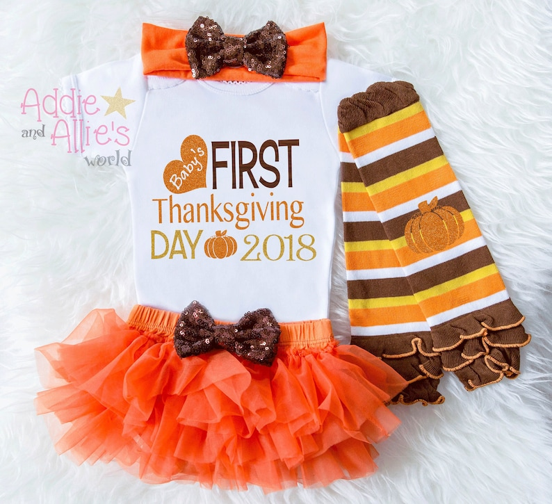 TG11 Baby Girl Thanksgiving Outfit Baby/'s First Thanksgiving Outfit My First Turkey Day 1st Fall Outfit Baby/'s 1st Thanksgiving Outfit