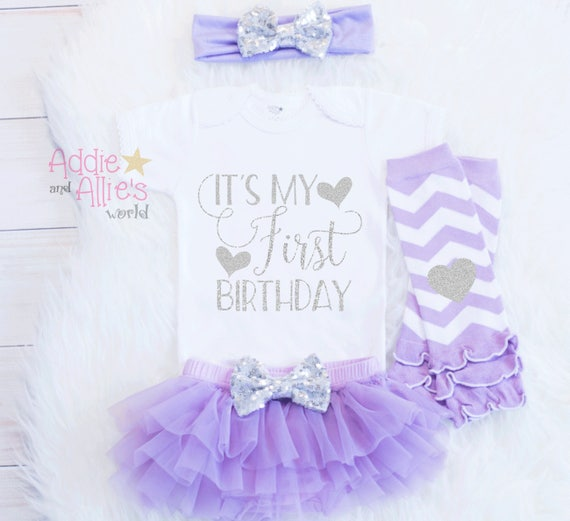 Its My First Birthday Outfit Lavender And Gold