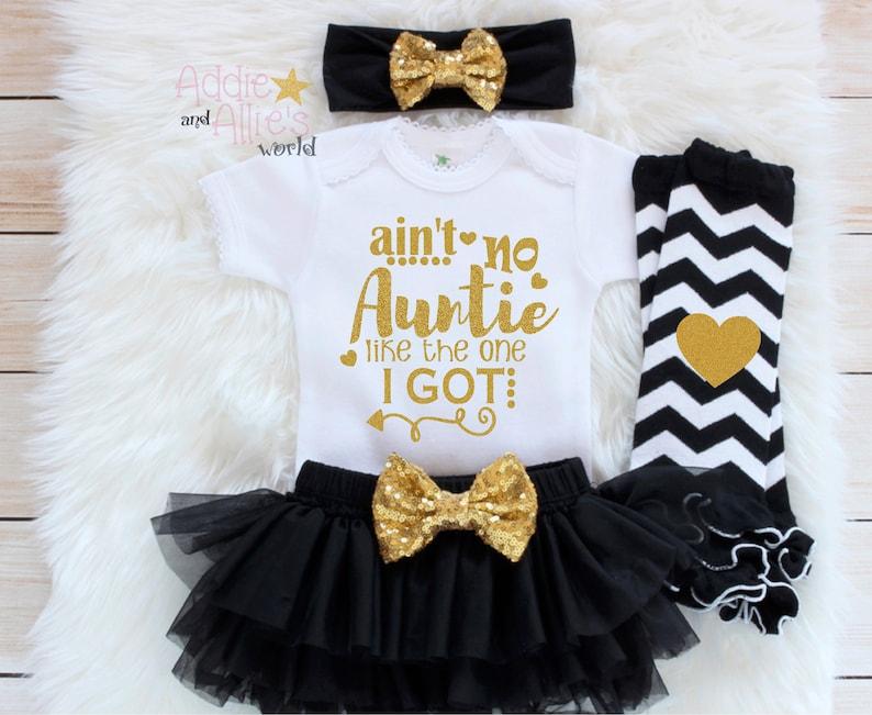 Auntie Is My Bestie G8P Girl Newborn Outfit My Aunt Is the Best Auntie/'s Bestie Baby Girl Clothes Auntie/'s Mini Baby Shower Gift Baby