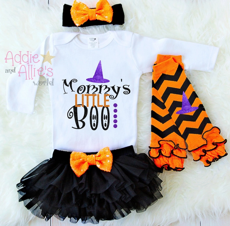 Baby First Halloween Outfit Baby First Halloween Costumes Mommys Little Boo Personalized Baby 1st Halloween Outfit H9