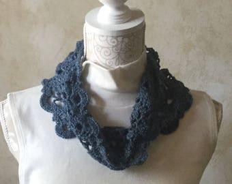 Crochet Lace Cowl