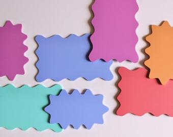 Wavy Trinket Tray / Squiggle Coaster - Pink, Purple, Blue, Mint and Orange