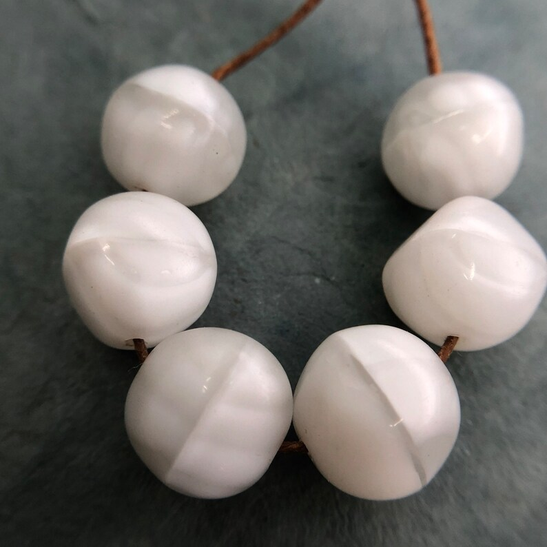 German White Beads 12mm Destash \u2014 Vintage Givre Beads
