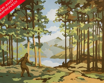 Paint by number 'Sasquatch' pattern