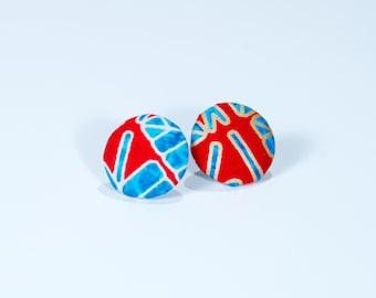 Ankara print earrings