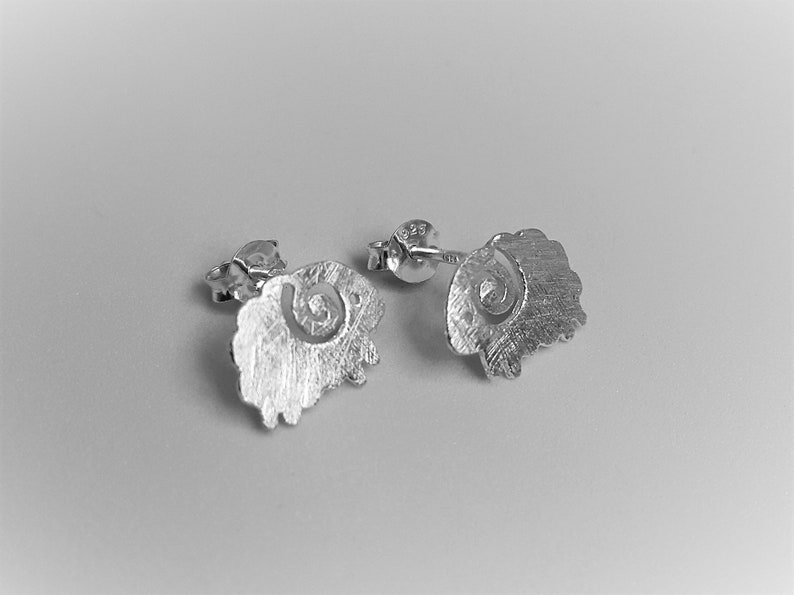 Birthday Gift for Her Silver Sheep Light Earrings Gorgeous Gift Elegant Jewelry Cute Studs