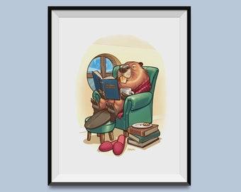 """Hygge Beaver 8"""" x 10"""" Print"""