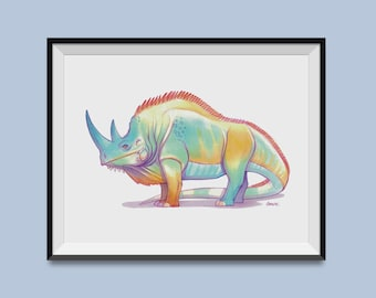 "Iguanoceros 8"" x 10"" Print"