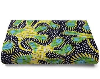 ANKARA AFRICAN WAX fabric 100% cotton, 1 yard, quilting material