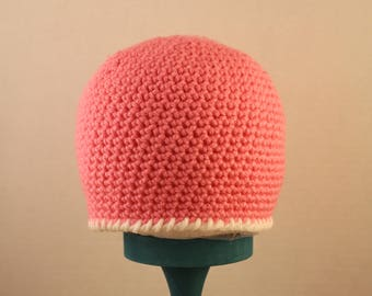 light pink simple hat 12-24 months