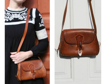 943e3776e8 Leather shoulder bag vintage