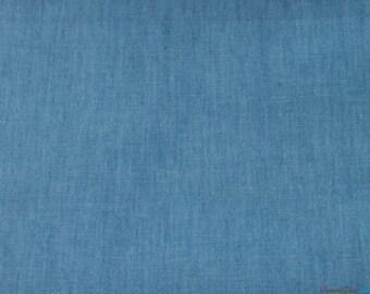 8oz Washed Denim Fabric / Light Blue