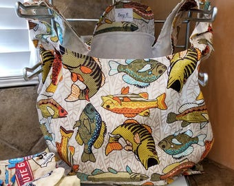 Funky Fish Grocery Tote